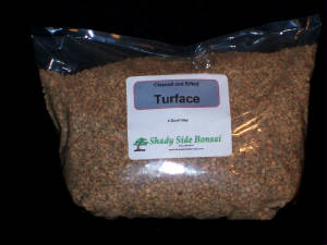economy bag of turface for bonsai from shady side